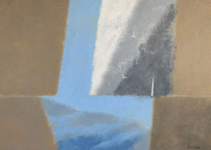 WILLIAM IRVINE A Patch of Blue oil on canvas, 36 x 40 inches $8500