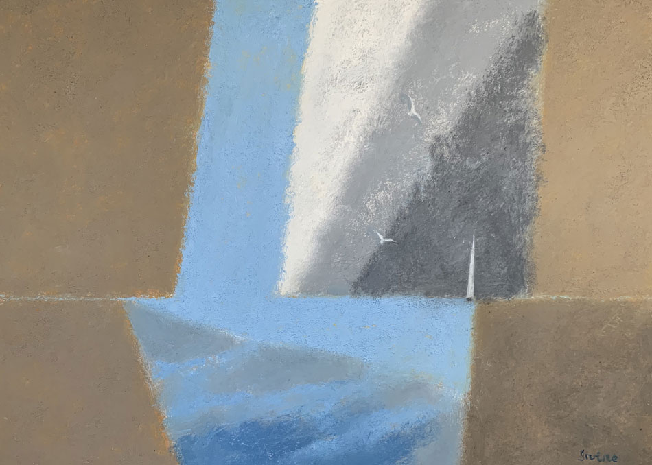 WILLIAM IRVINE A Patch of Blue, oil on canvas, 36 x 40 inches
