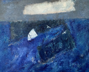 WILLIAM IRVINE Between the Islands oil on canvas, 24 x 30 inches $4600