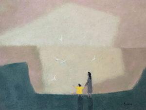 WILLIAM IRVINE Evening Gulls II oil on canvas, 36 x 48 inches $9800
