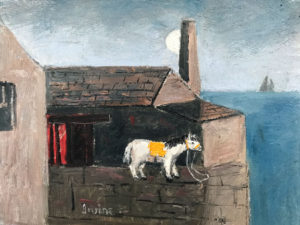 WILLIAM IRVINE Horse on the Wharf oil on board, 12 x 16 inches $2500