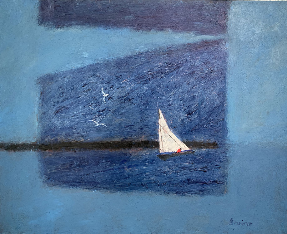 WILLIAM IRVINE Into the Blue, oil on canvas, 24 x 30 inches