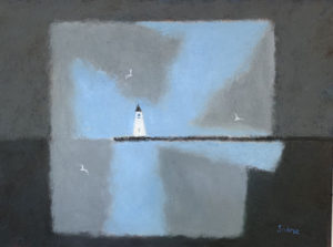 WILLIAM IRVINE Lighthouse oil on canvas, 30 x 48 inches $8500