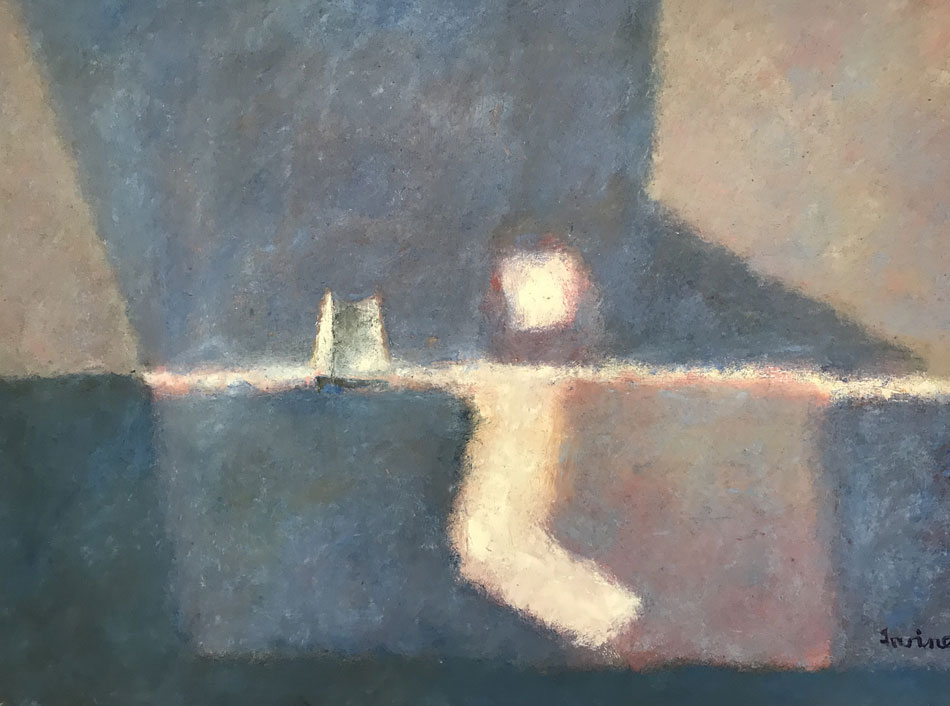WILLIAM IRVINE Moonlight Sea, oil on canvas, 36 x 48 inches
