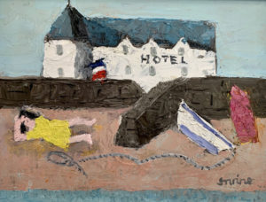 WILLIAM IRVINE The French Hotel oil on board, 12 x 16 inches $2500