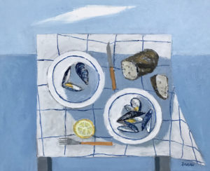 WILLIAM IRVINE The Maine Meal oil on canvas, 24 x 30 inches $4600
