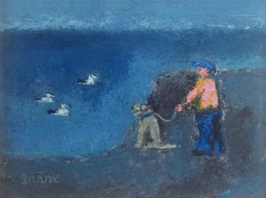 WILLIAM IRVINE Three Ducks oil on board, 12 x 16 inches $2500