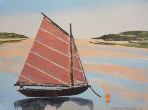 SUSAN AMONS Island Daysailor IV framed monoprint, 9 x 12 inches $400