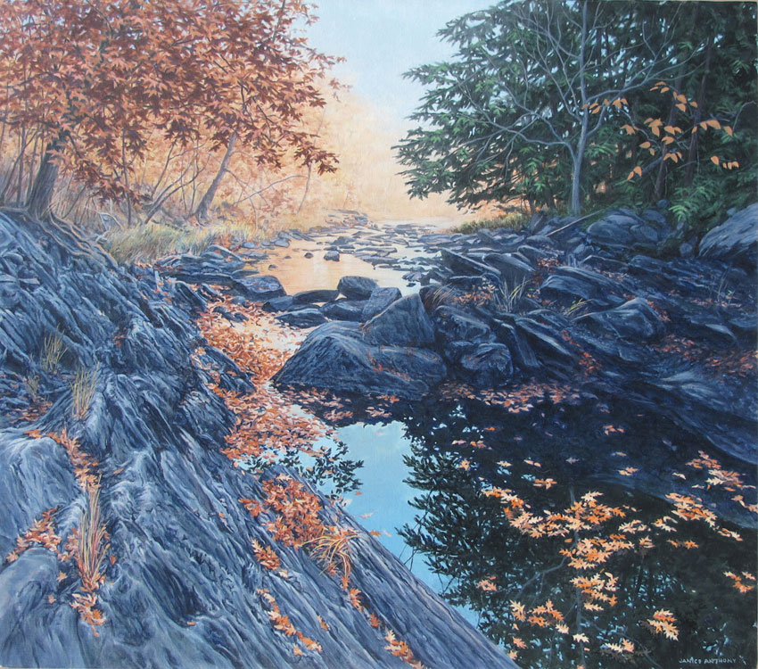 JANICE ANTHONY Autumn Pool, 22 x 25 inches