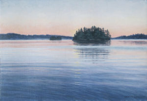 JANICE ANTHONY Evening Island acrylic on linen, 9 x 13 inches $1600