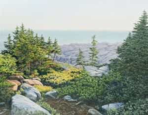 JANICE ANTHONY Outlook, Schoodic Point acrylic on linen, 24 x 31 $7200