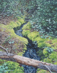 JANICE ANTHONY Secret Stream oil on linen, 10 x 8 inches $900