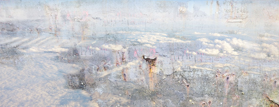 JEFFERY BECTON Cloud of Unknowing I, digital montage, 15 x 39 inches