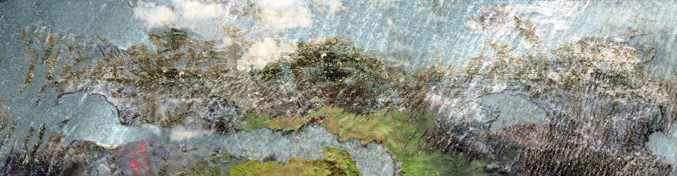 JEFFERY BECTON Inundation, digital montage, 15 x 57 inches