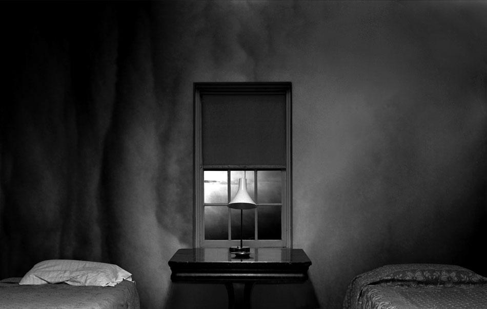 JEFFERY BECTON Unforgiven, digital montage, 20 x 32 inches