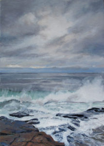 JUDY BELASCO Runoff oil on panel, 9 x 6.5 inches SOLD