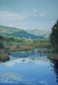 JUDY BELASCO Baxter Marsh oil on panel, 20 x 14 inches SOLD