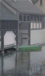 Judy Belasco Chartes oil on panel, 12 x 7 inches