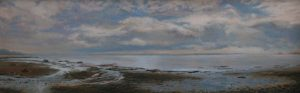 JUDY BELASCO Eastern Sky oil on panel, 7 x 26 inches