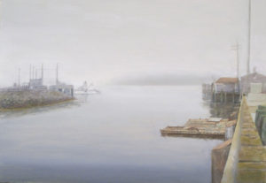 JUDY BELASCO Ferry Port oil on panel, 7.5 x 10.5 inches