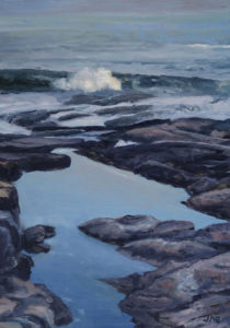 JUDY BELASCO Tidal Pool oil on panel, 9 x 6.5 inches SOLD