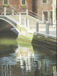 JUDY BELASCO Venice oil on panel, 16 x 12 inches