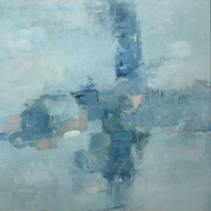 RAGNA BRUNO Blue Composition oil on canvas, 48 x 48 inches $7500