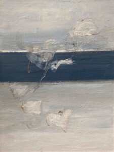 RAGNA BRUNO Floating on Grey oil on board, 40 x 30 inches $4500