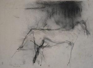 RAGNA BRUNO Greyhound pastel, 12 x 16 inches