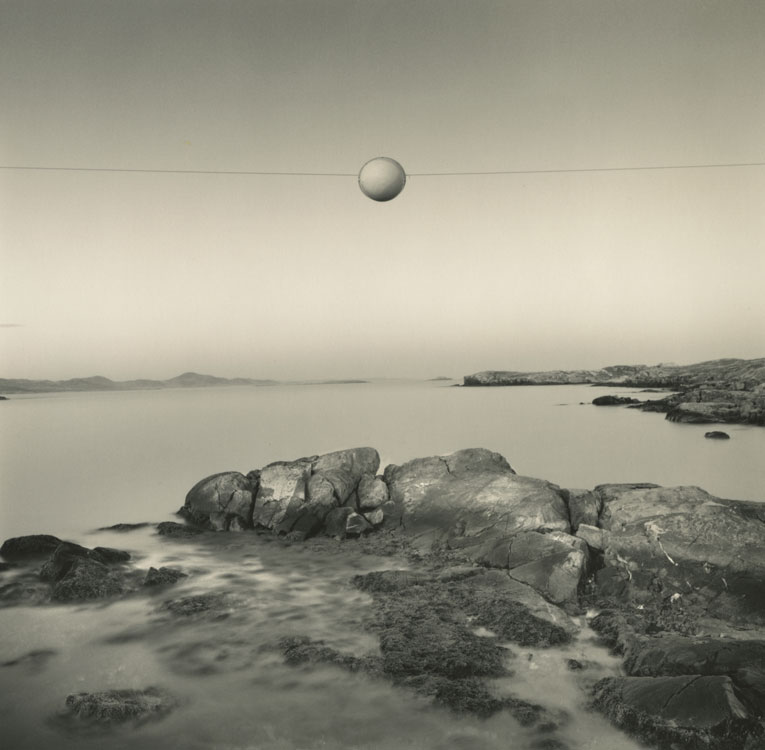 LISA TYSON ENNIS Another World, Abandoned Outport, Newfoundland, toned silver prints, 14 x 14 inches