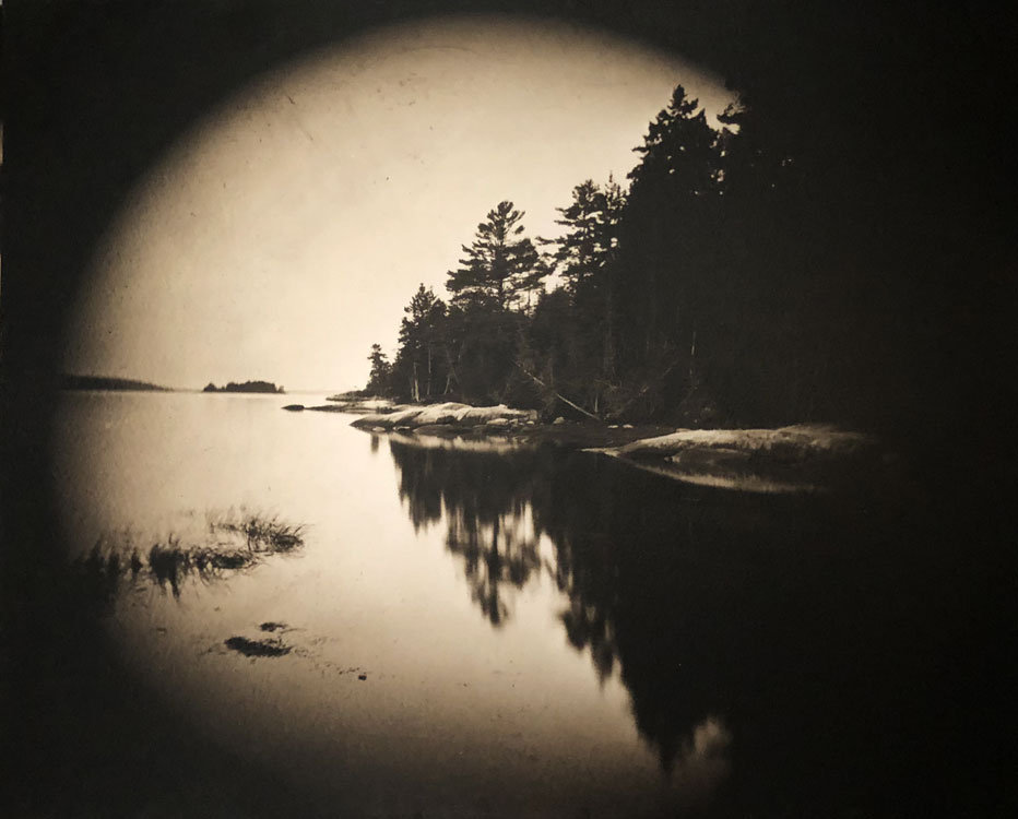 LISA TYSON ENNIS Evening Cove, toned silver gelatin from 8x10 glass negative, 20 x 24 inches