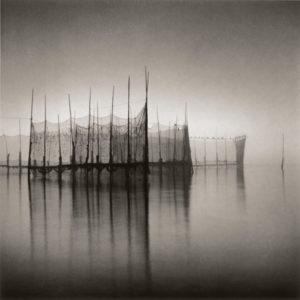 LISA TYSON ENNIS Fishing Weir Study III, Deer Island toned silver print, 14 x 14 inches