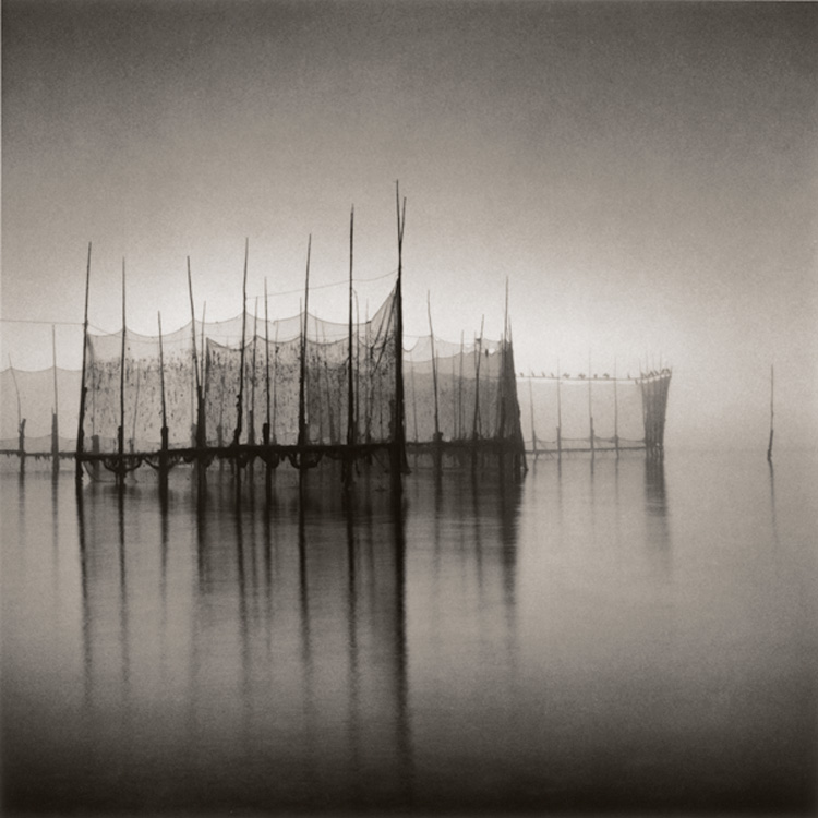 LISA TYSON ENNIS Fishing Weir Study III, Deer Island, toned silver print, 14 x 14 inches