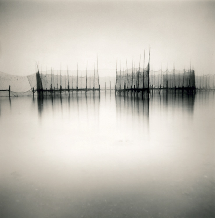 LISA TYSON ENNIS Fishing Weir Study V, Deer Island, toned silver prints, 14 x 14 inches