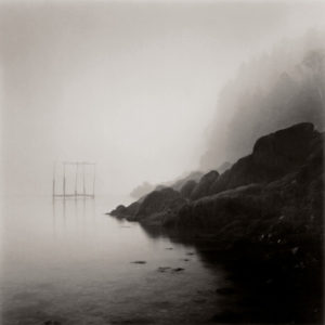 LISA TYSON ENNIS Fishing Weir Study VI, Deer Island toned silver print, 14 x 14 inches