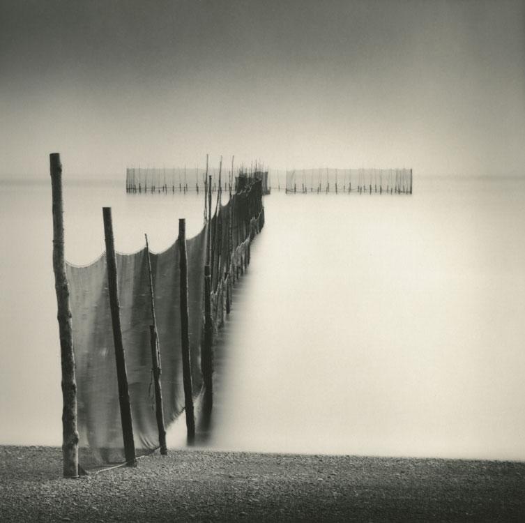 LISA TYSON ENNIS Fishing Weir Study XVII, Campobello, toned silver print, 14 x 14 inches