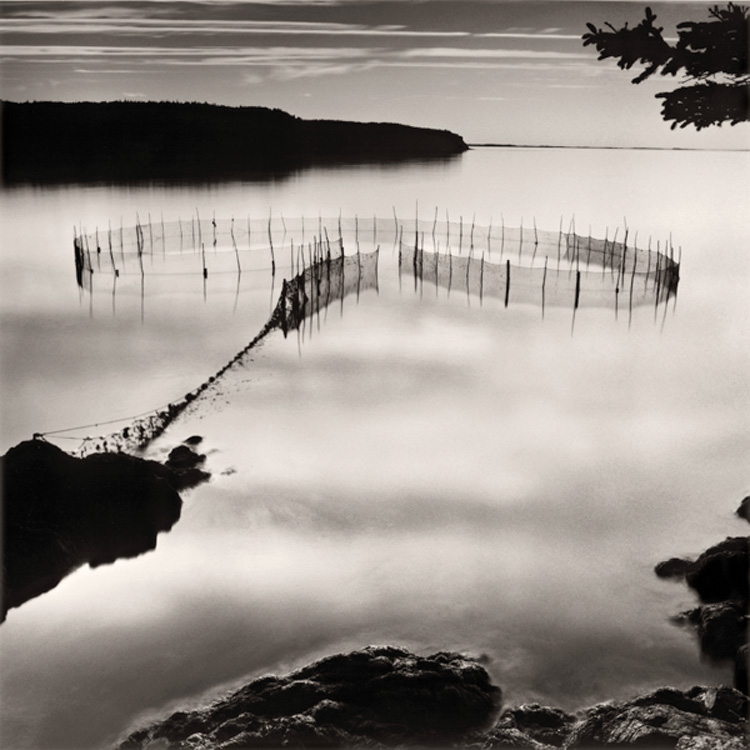 LISA TYSON ENNIS Fishing Weir at Night, Grand Manan Island, toned silver prints, 14 x 14 inches
