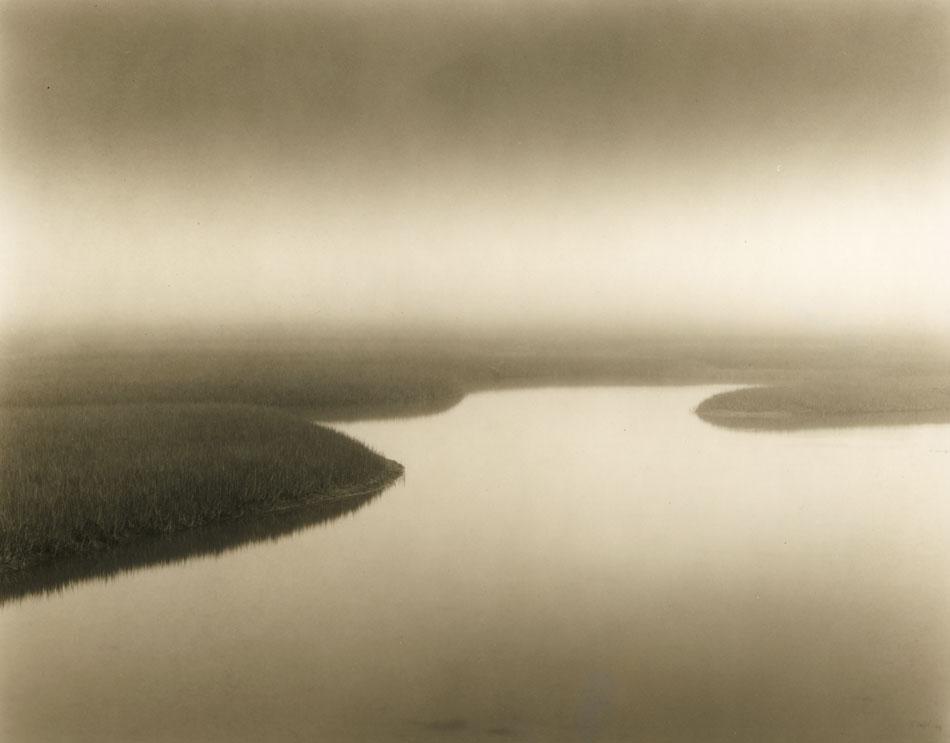 LISA TYSON ENNIS Marsh Study III, original toned silver print, 7 x 9 inches