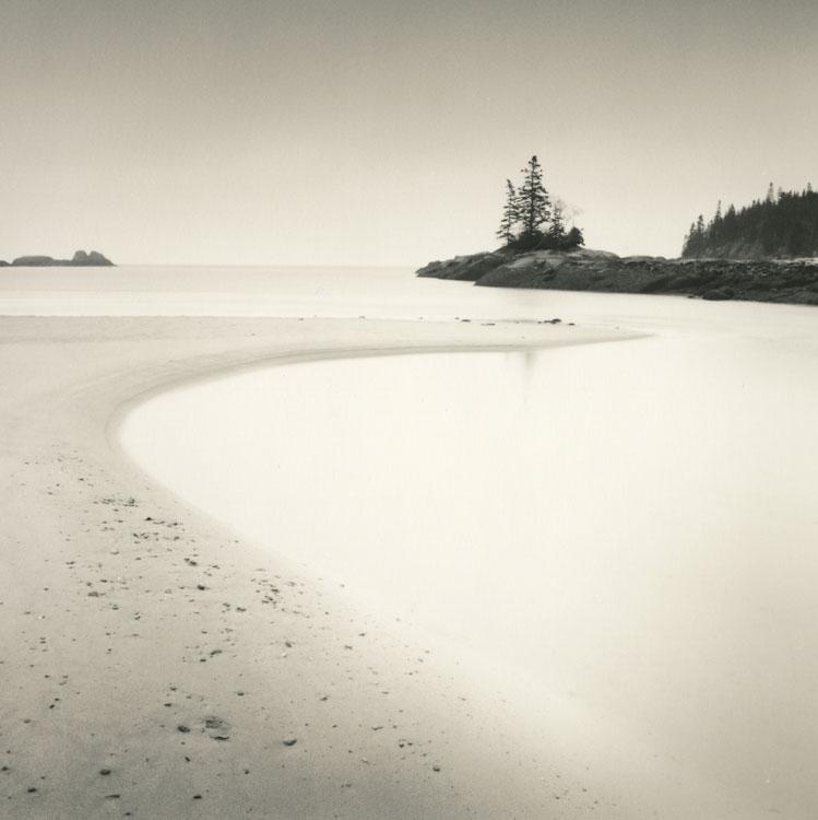 LISA TYSON ENNIS Sand Beach at Dawn, toned silver prints, 14 x 14 inches