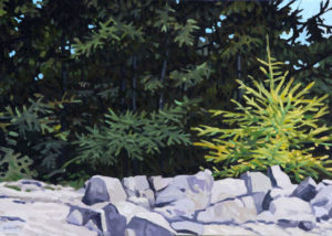 JUNE GREY New Growth oil on linen, 10 x 14 inches $1800