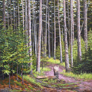 JUNE GREY Beckoning acrylic on canvas, 11 x 11 inches $1200