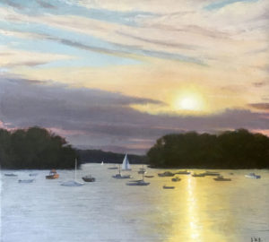 JOSEPH KEIFFER Little Harbor, Dusk oil on canvas, 18 x 20 inches SOLD
