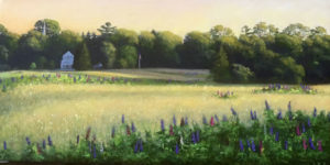 JOSEPH KEIFFER Somesville Meadow oil on canvas, 10 x 20 inches SOLD