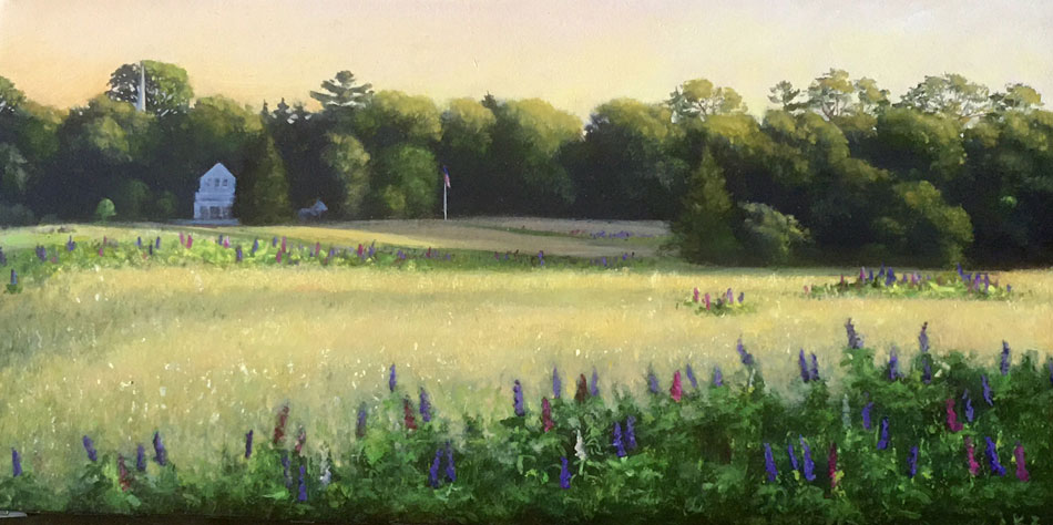 JOSEPH KEIFFER Somesville Meadow oil on canvas, 10 x 20inches