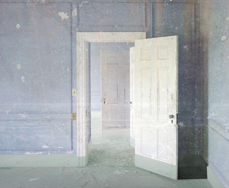 JEFFERY BECTON The Baths, digital montage, 20 x 24 inches