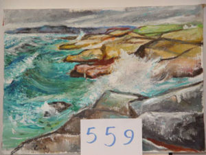 EMILY MUIR Schoodic Surf oil on canvas, 19 x 26 inches