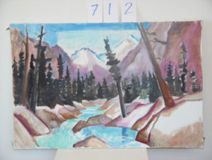 EMILY MUIR Mountain River oil on canvas, 25 x 38 inches