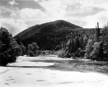 BERENICE ABBOTT Burnt Mountain, c. 1966, vintage silver gelatin photograph, 7 x 9 inches