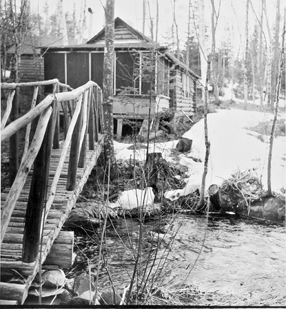 BERENICE ABBOTT Family Camp Near Greenville, c. 1966, vintage silver gelatin photograph, 8 x 8 inches