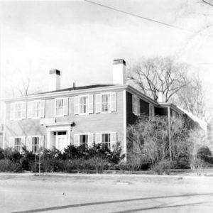 BERENICE ABBOTT 76 Federal Street, Brunswick, c. 1966 vintage silver gelatin photograph, 8 x 8 inches